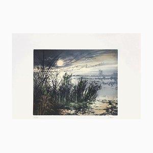 Sonnenuntergang auf der Lagune von France Hilon