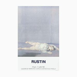 Póster Expo 81 Galerie Isy Brachot Paris de Jean Rustin