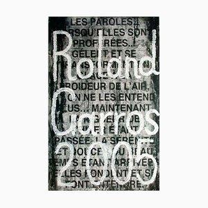 Roland Garros Plakat von Jaume Plensa