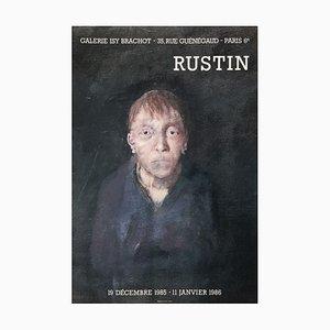 Póster Expo 86 Galerie Isy Brachot Paris de Jean Rustin
