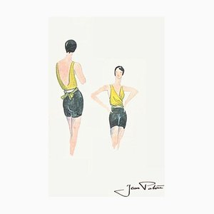 Fashion Drawing III by Jean Patou