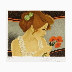 Woman in Poppy von Yves Ganne