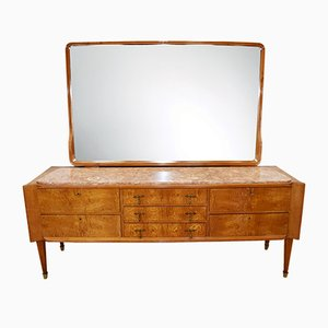 Italian Drawers with Mirror, 1950s