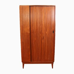 Mid-Century Teak Wardrobe with Tambour Door from Austinsuite