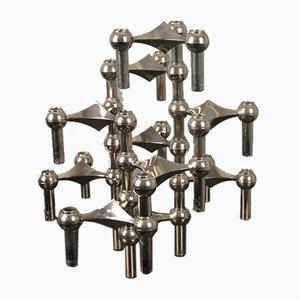 Modulare Kerzenständer von Nagel 1970, 10er Set