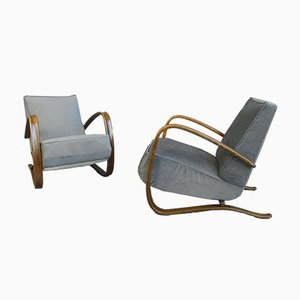 Model H269 Armchairs by Jindřich Halabala, 1930s, Set of 2