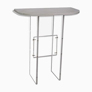 Console Table in Marble and Plexiglas