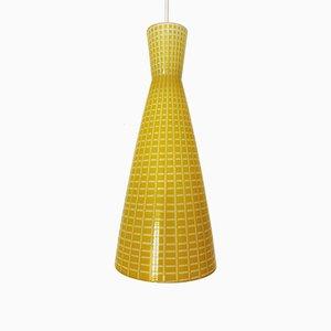 Glas Hängelampe von Aloys Gangkofner für Peill & Putzler, 1950er
