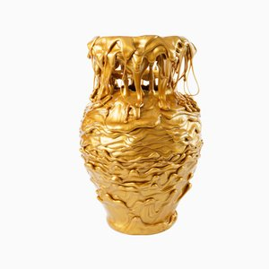 Hot Mess Vessel Gold Drip Vase by Tanner Bowman