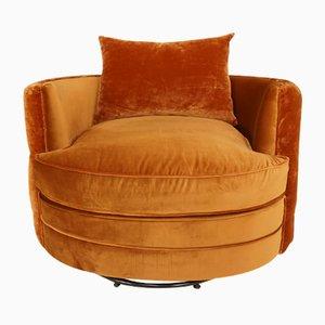Grande Chaise Pivotante en Velours