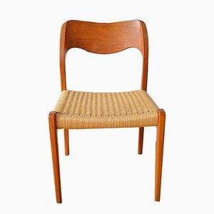 Danish Model 71 Dining Chair by Nils Otto Möller for J. L. Möller, 1970s