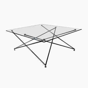 Low Chrome and Glass Table