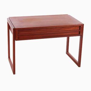 Vintage Danish Teak Sewing Kit Side Table, 1960s