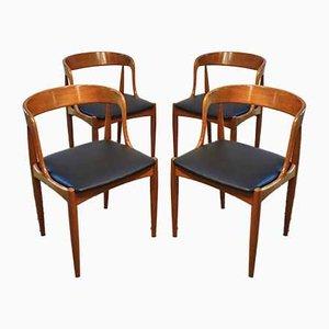 Sedie di Johannes Andersen per Uldum Møbelfabrik, Scandinavia, anni '60, set di 4