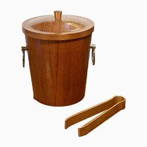 Teak and Brass Ice Bucket, 1960s
