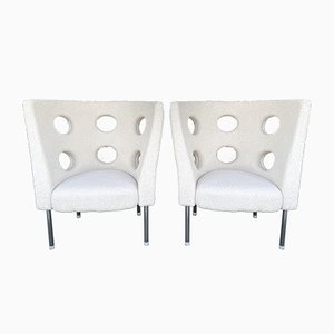 Italian Bouclé Armchairs by Paolo Rizzato, Set of 2