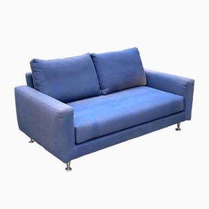 Sofa aus Stoff & Stahl, Italien, 1980er