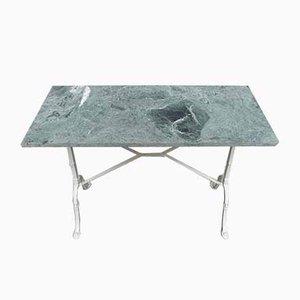 Tavolo da giardino in marmo verde e ghisa