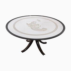 Tavolo La Pesca della Sirena vintage di Gio Ponti e Pietro Chiesa per Luigi Fontana