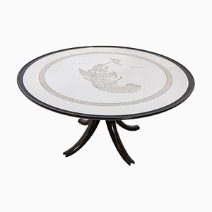 Vintage La Pesca Della Sirena Tisch von Gio Ponti und Pietro Chiesa für Luigi Fontana
