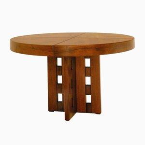 Tavolo rotondo allungabile di Ferdinando Meccani