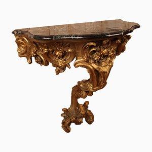 Konsole aus vergoldetem Holz, 1800er