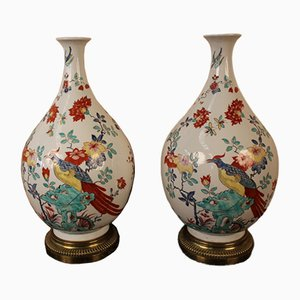 Large Asian Style Vases from Samson, 1800s, Set of 2