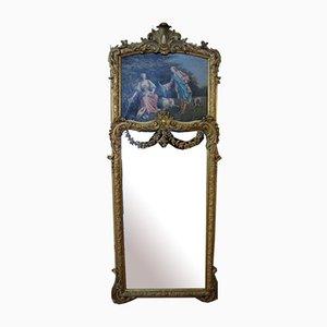 Miroir Pier en Bois Doré, 1800s