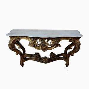 Large Giltwood Console, 1800s