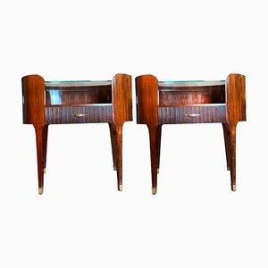 Tavolino ovale di Paolo Buffa, set di 2