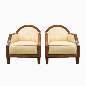 French Art Deco Armchairs, Circa 1920, Set of 2