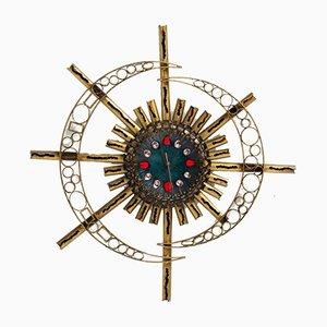 Große Uhr im Brutalistischen Stil von Franco Bastianelli