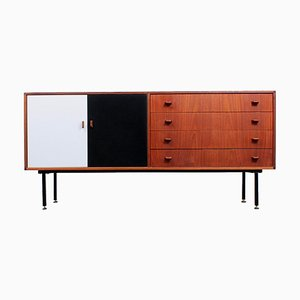 Black and White Teak Sideboard by Fristho, 1950s