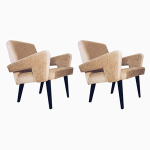 Czechoslovakian Mid-Century Modern Armchairs from Jitona, Set of 2