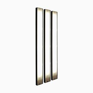 Vertikale modulare italienische Gronda Wandleuchte von Luciano Bertoncini, 1970er
