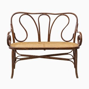 Curved Beech Bench by Michael Thonet, Circa 1900