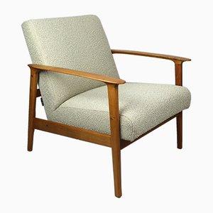 Danish Beige Boucle Lounge Chair, 1970s