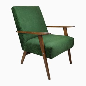 Vintage Green Velvet Chameleon Series Armchair, 1970s