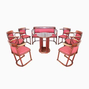 Living Room Set by Josef Hoffmann for Thonet, Set of 8