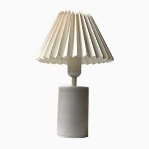 Cylindrical Gray Celadon Table Lamp by Aksel Larsen for Axella, 1970s