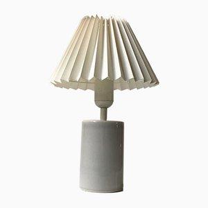 Lampe de Bureau Celadon Cylindrique Grise par Aksel Larsen pour Axella, 1970s