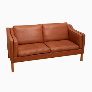 Vintage Danish Cognac Leather Sofa from Hurup Møbelfabrik