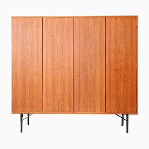 Danish Teak Wall Cupboard / Cabinet by Børge Mogensen for Søborg Møbelfabrik, 1960s
