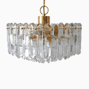 Large Ice Glass Palazzo Chandelier from Kalmar Franken