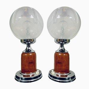 Space Age Murano Glas Tischlampen, 1960er, 2er Set