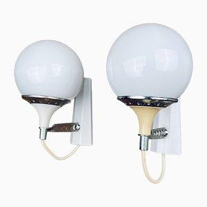 Weiße Midli Mid-Century Wandlampen von Targetti Sankey, 1960er, 2er Set