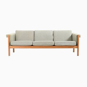 Vintage Solid Oak GE-40 / 3 Sofa by Hans J. Wegner for Getama