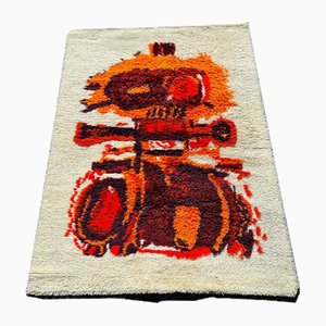 Vintage Hand Knotted Wool Tapestry