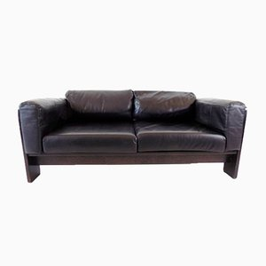 2-Seater Leather Sofa by Afra & Tobia Scarpa for Gavina / Knoll Bastiano
