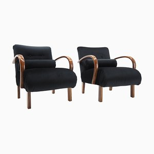 Armchairs by Jindřich Halabala, Czechoslovakia, 1940s, Set of 2